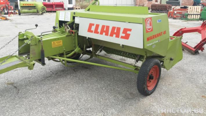 Сламопреси Claas МАРКАНТ 41 3 - Трактор БГ