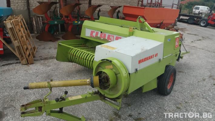 Сламопреси Claas МАРКАНТ 41 5 - Трактор БГ